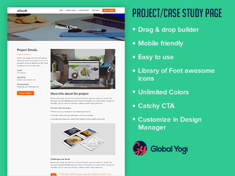 Project Case study page