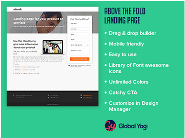 Above the Fold Landing Page