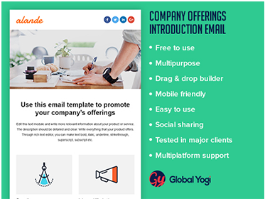 Company offerings introduction Email