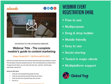 Webinar Event Registration Email