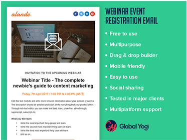 Webinar Event Registration Email