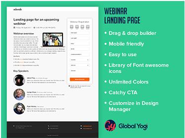 Webinar Landing Page