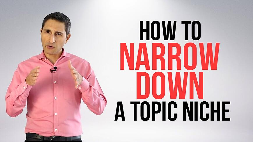 How To Narrow Down Atopic Niche