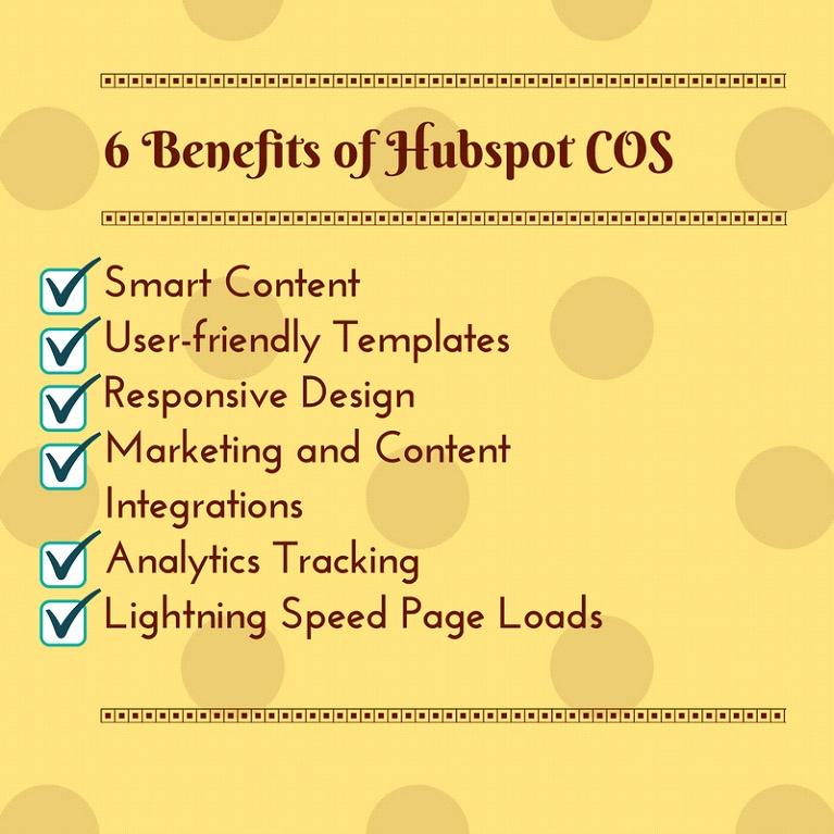 Hubspot Cos Advantages