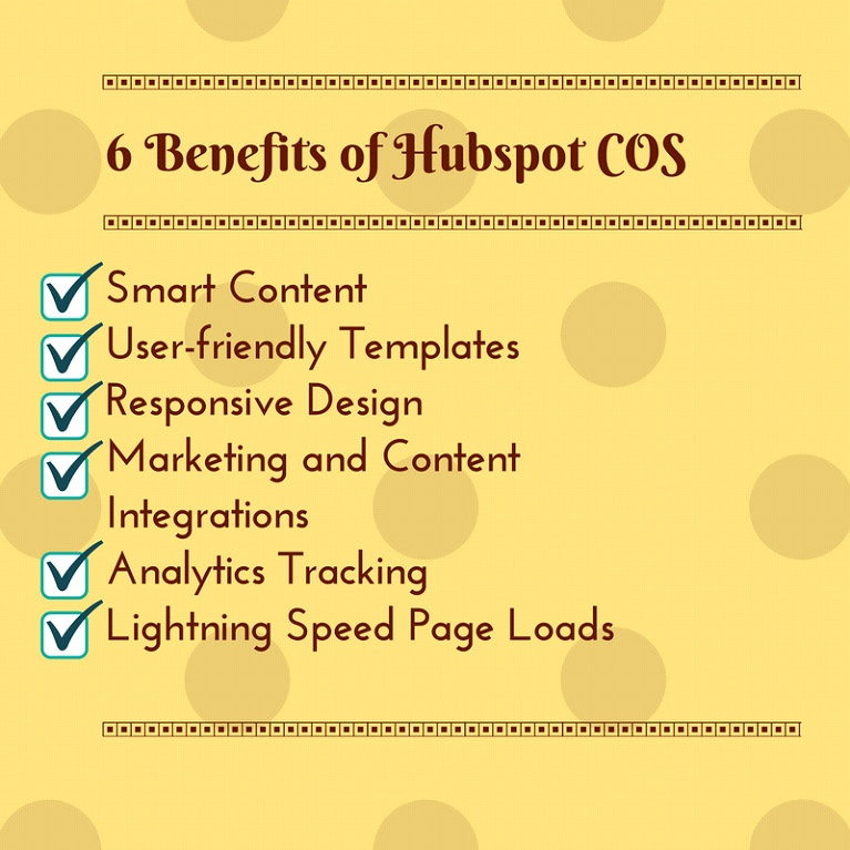 Hubspot Cos Advantages