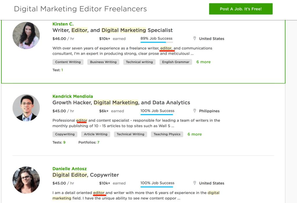 Digital Marketing Editor Freelancers