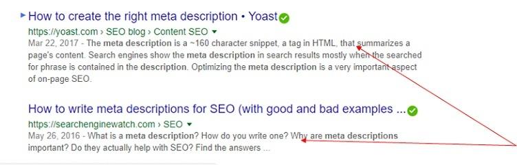 Disregarding meta descriptions