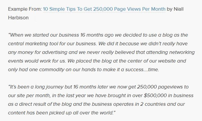 Example on 10 simple step to get 25000 view in month