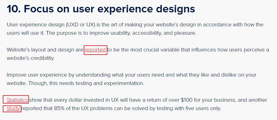 Focus on User Experience design