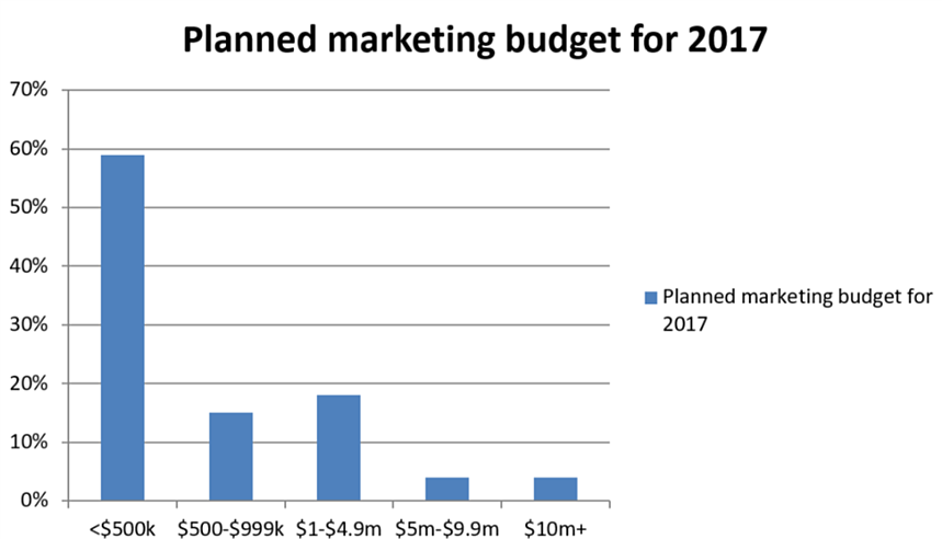 Planned marketing budget for 2017