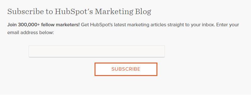 Subscribe to hubspot's marketing blog