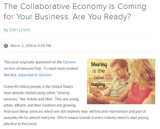 The collaborative economy is coming for you business