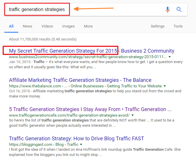 Traffic Generation Strategies