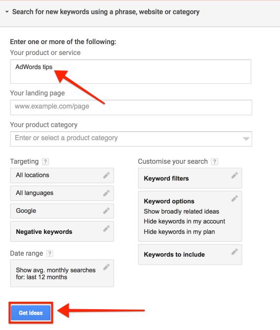 Keyword Search Page