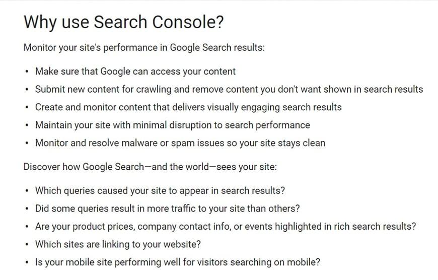 search consol